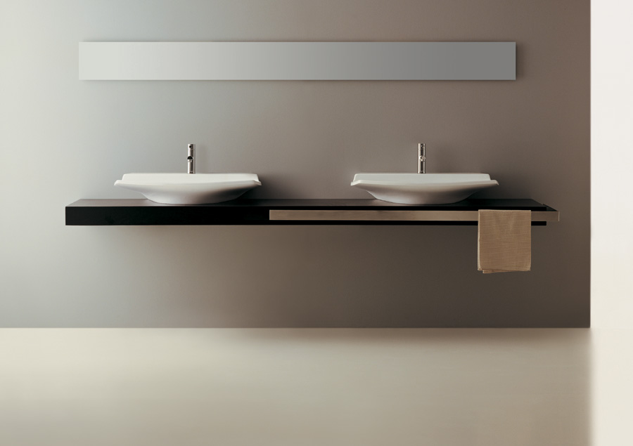 Top 250 con doppio lavabo fly for Top arredo