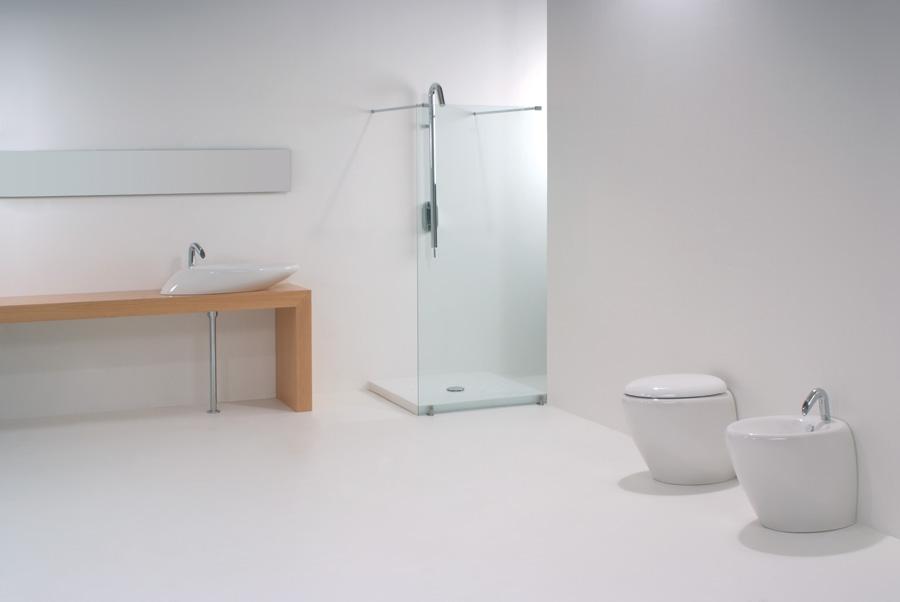 Lavabo touch da 80 cm sanitari a terra - Costo sanitari bagno completo ...
