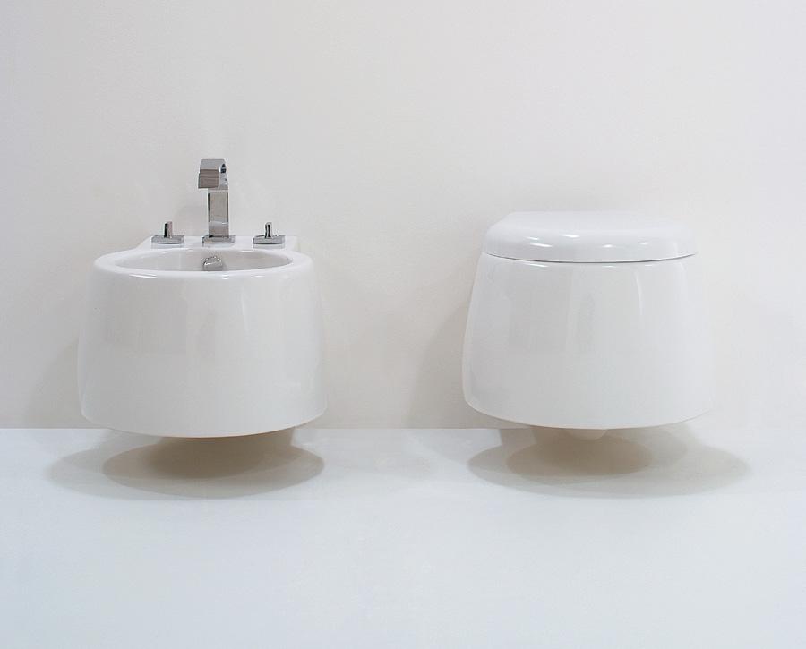 Sanitari bagno enjoy sospesi wc sedile bidet bianco lucido cielo
