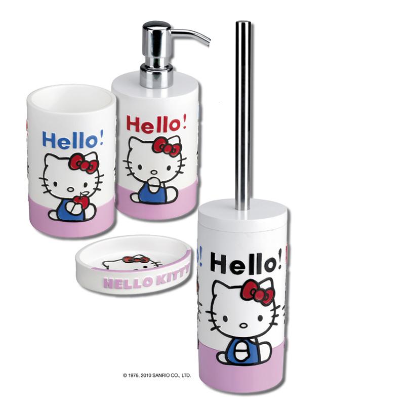 Accessori Bagno Hello Kitty.Set Accessori Bagno Hello Kitty