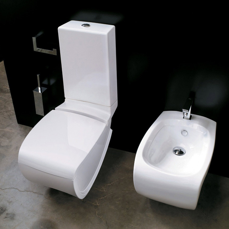 vaso monoblocco e bidet hi line. Black Bedroom Furniture Sets. Home Design Ideas