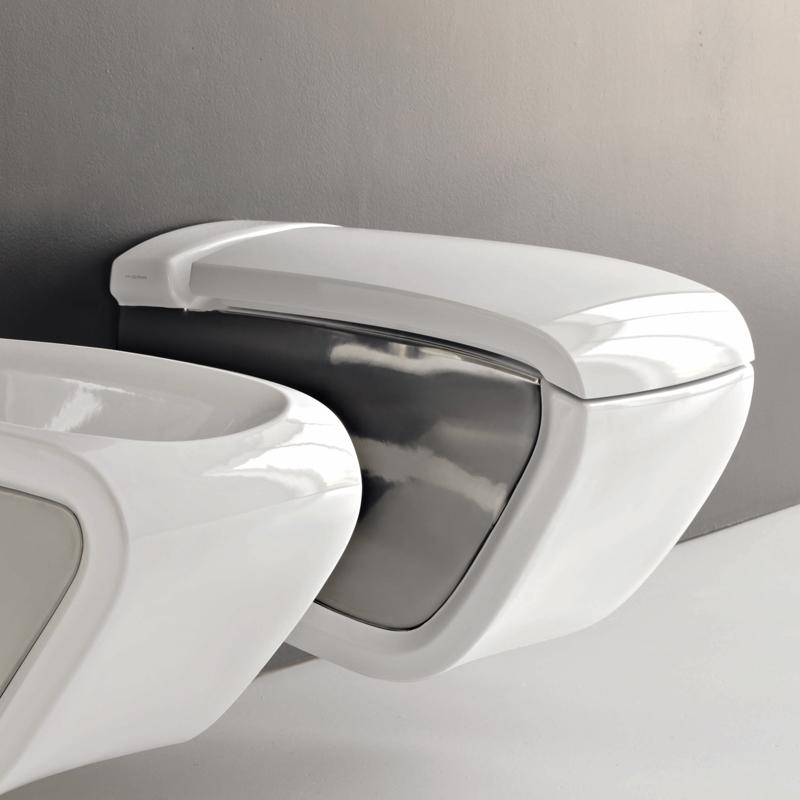 Vaso sospeso hi line bicolore bianco argento for Vaso sospeso