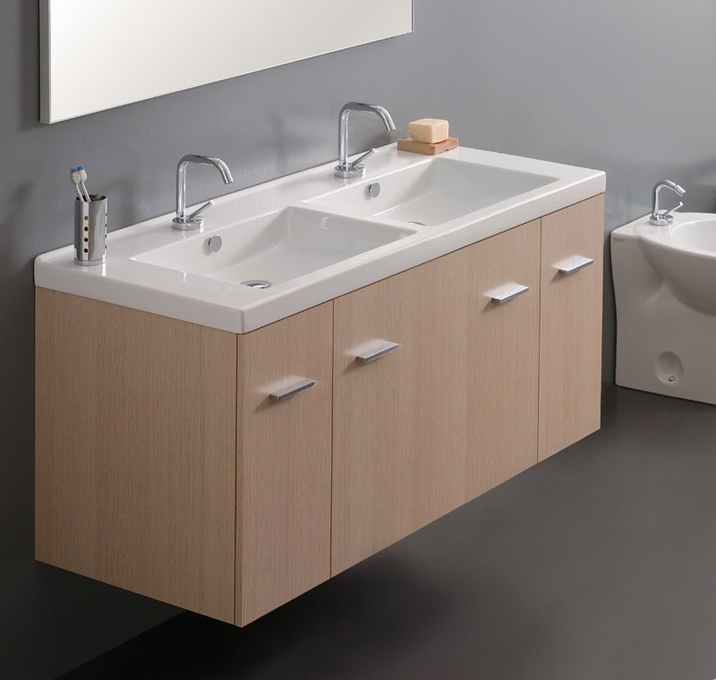 Mobile con consolle 120 cm 2 vasche for Mobile bagno due vasche