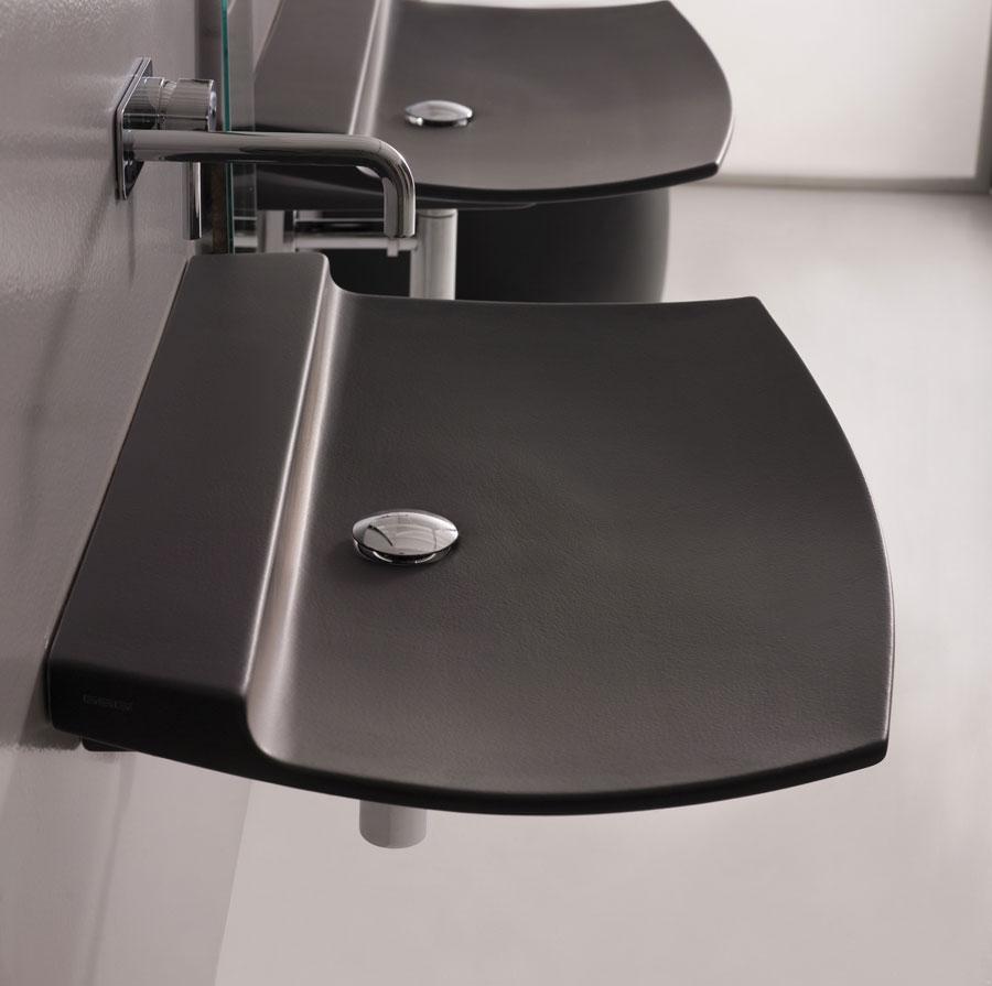 Lavabo fly nero satinato - Lavabo nero bagno ...
