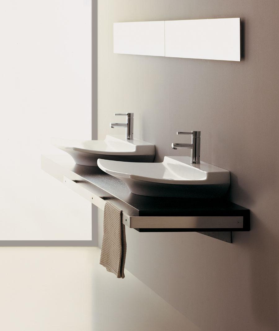 top 250 con doppio lavabo fly - Lavabo Per Top