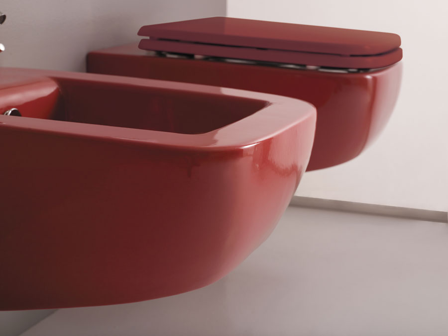 Sanitari sospesi lilac rosso - Rubinetteria bagno nera ...