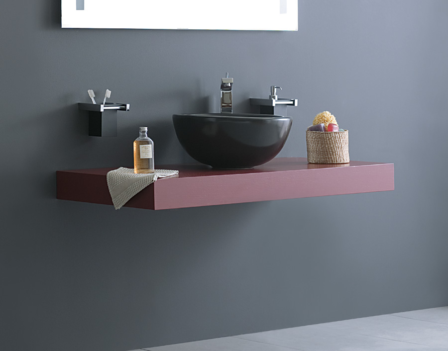 Piano bagno per lavabo top h10 cm for Top per lavabo da appoggio ikea