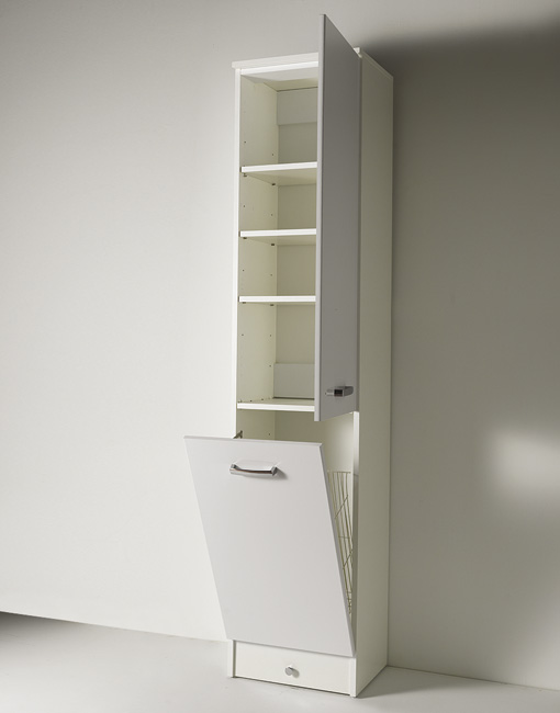 Mobile eko colonna cesto l44xp37xh200 cm 6662 - Mobile a colonna bagno ...