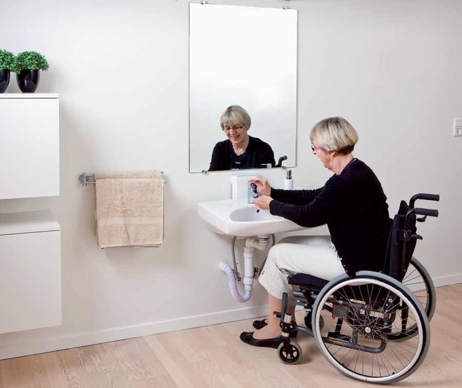 Lavabo regolabile in altezza - Accessori bagno disabili ...