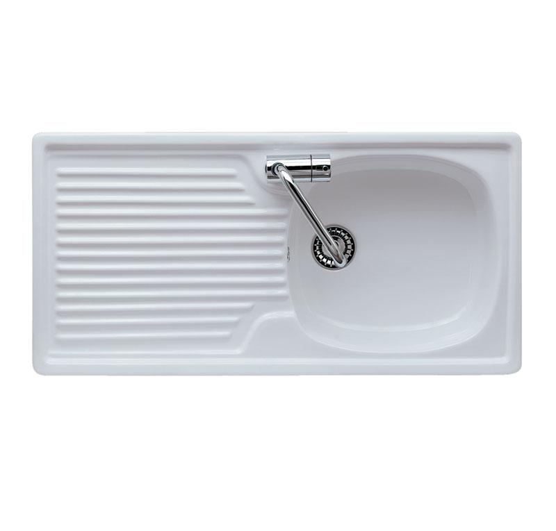 Lavello per mobile con scolapiatti eliseo 90 Lavelli cucina in ceramica