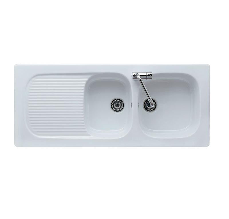 lavello cucina incasso bianco GENIUS 116