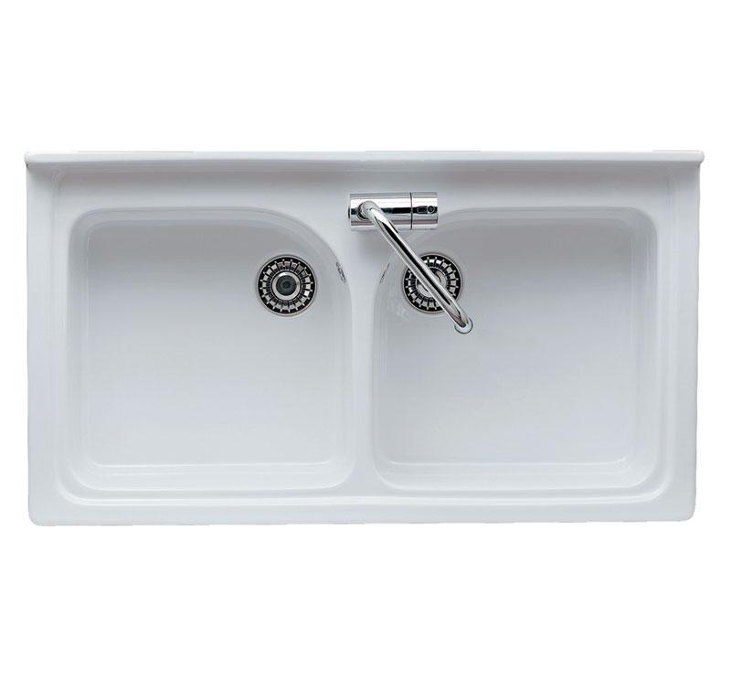 Lavello da mobile 2 vasche saturno - Lavello cucina ceramica ...