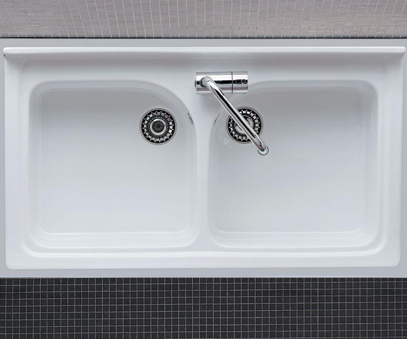 Lavello da mobile 2 vasche saturno Lavelli cucina in ceramica