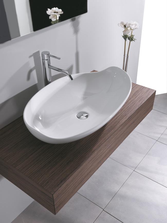 Mensola minimal h15 cm - Mensola bagno appoggio lavabo ...