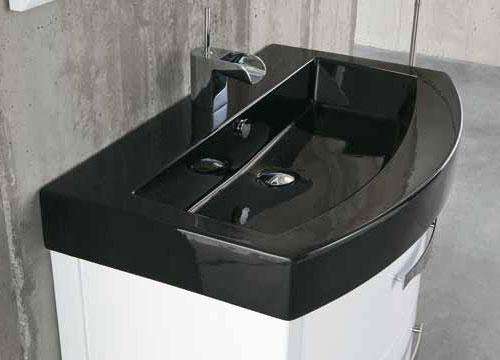 Arredo bagno bianco lucido zeus - Lavabo nero bagno ...