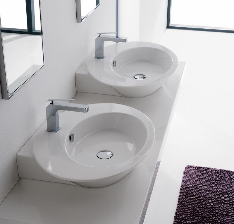 Lavabo appoggio simmetrico wish - Costo sanitari bagno ...