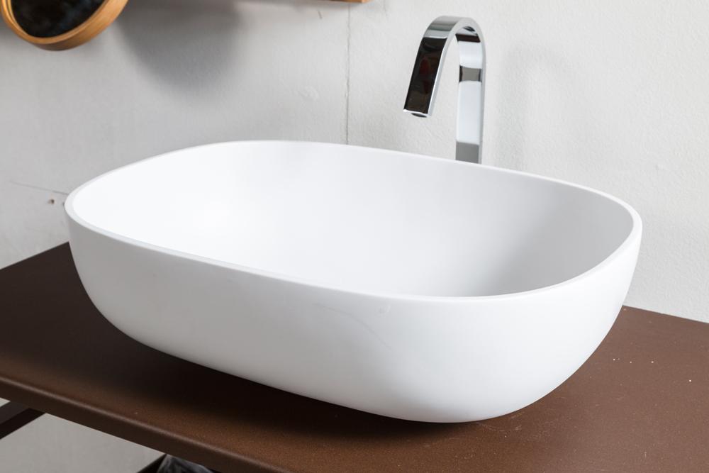 Lavabo in resina snob 55x40 5x16h cm for Lavabo bagno resina
