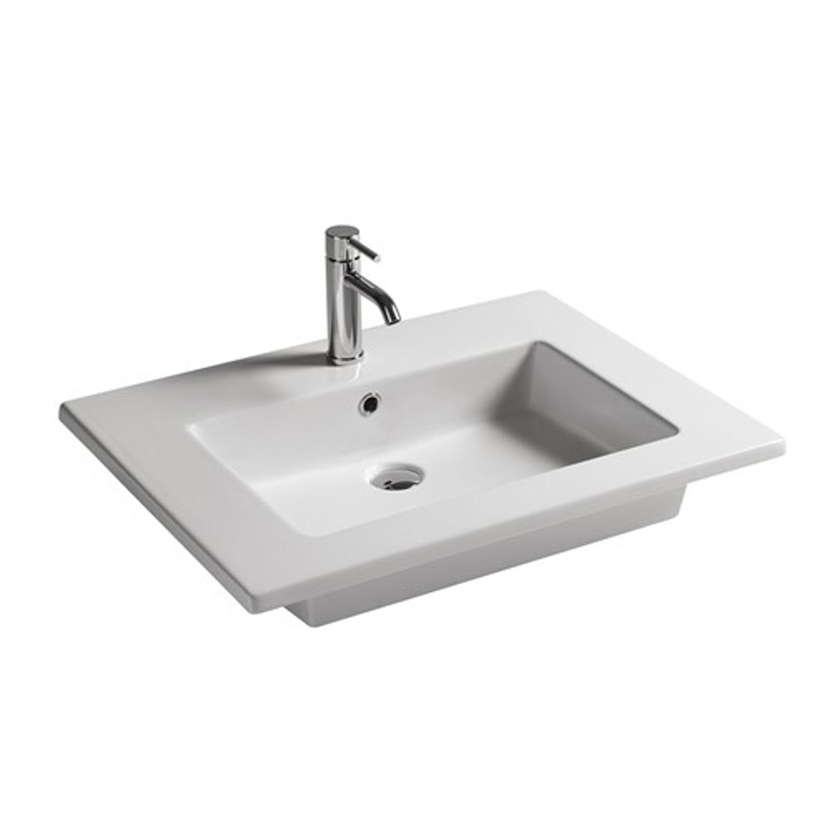 Lavabo sospeso 71x46 cm for Arredo bagno lavabo sospeso
