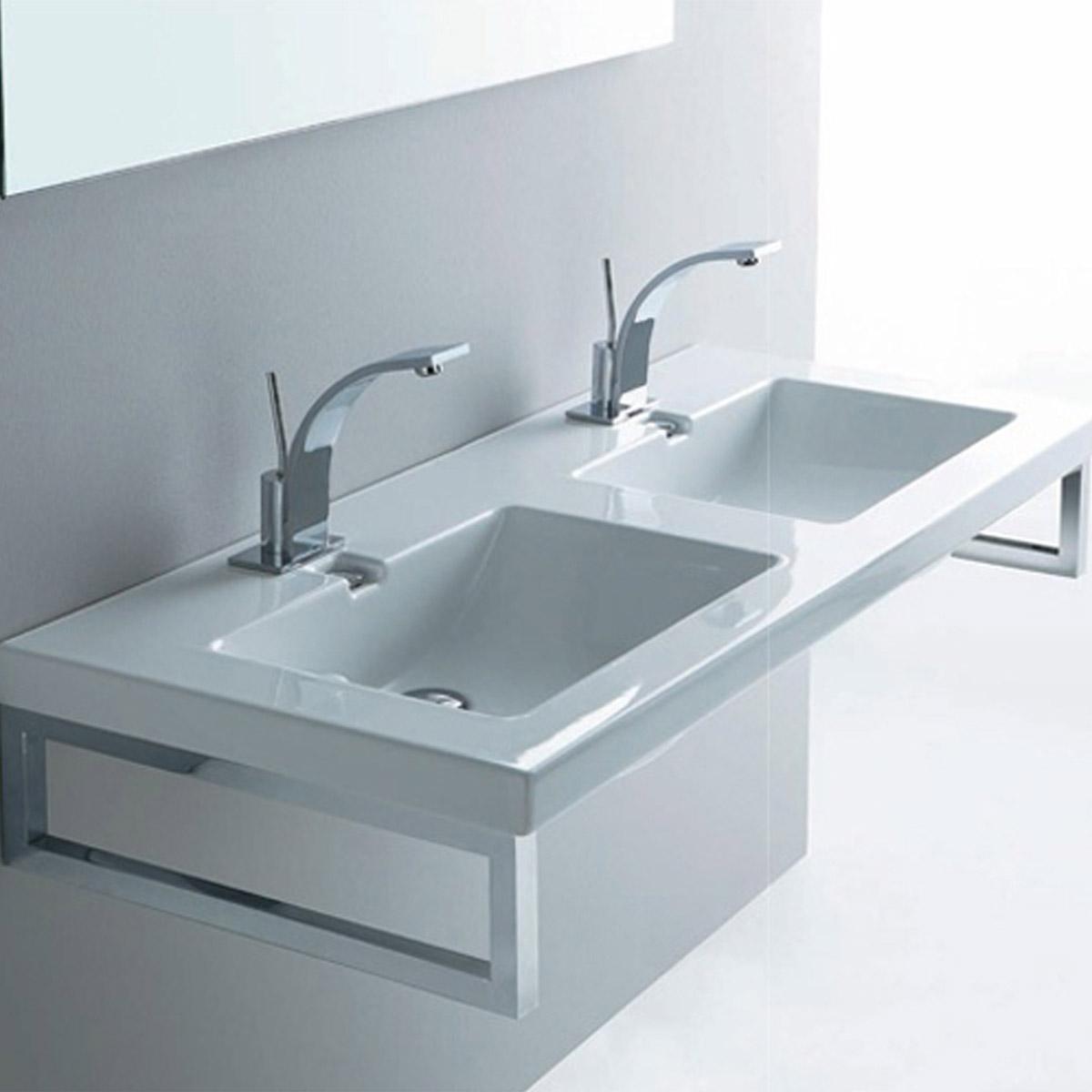 Lavandino in resina mobile bagno con lavabo in marmo - Lavandino bagno da incasso ...