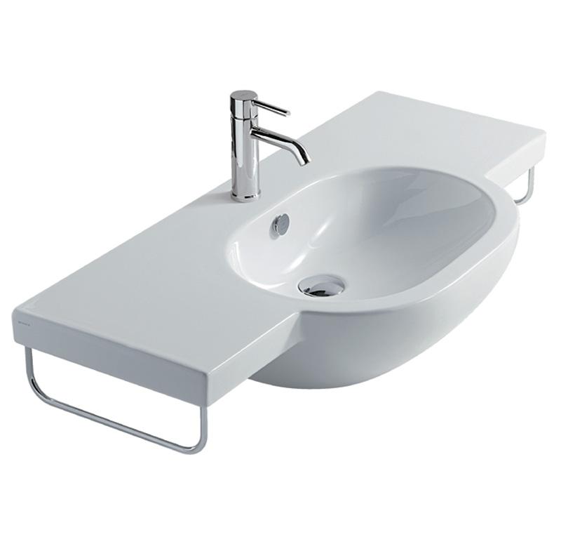 Lavabo 100 cm sospeso m2 for Altezza lavabo sospeso