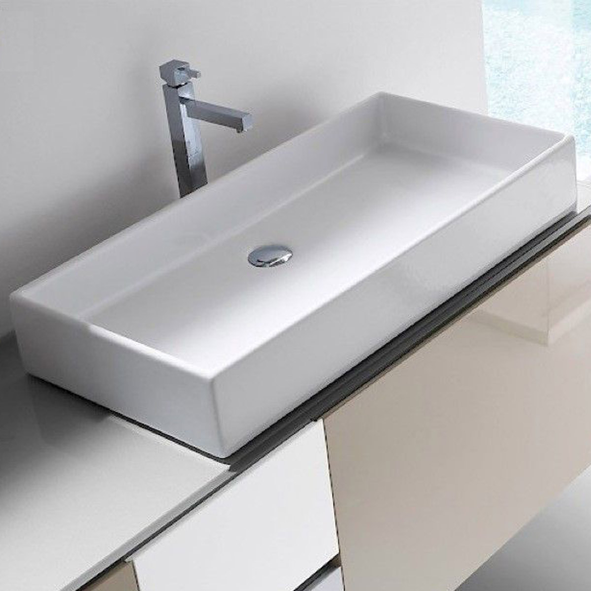Lavabo 80 cm box - Lavello bagno appoggio ...