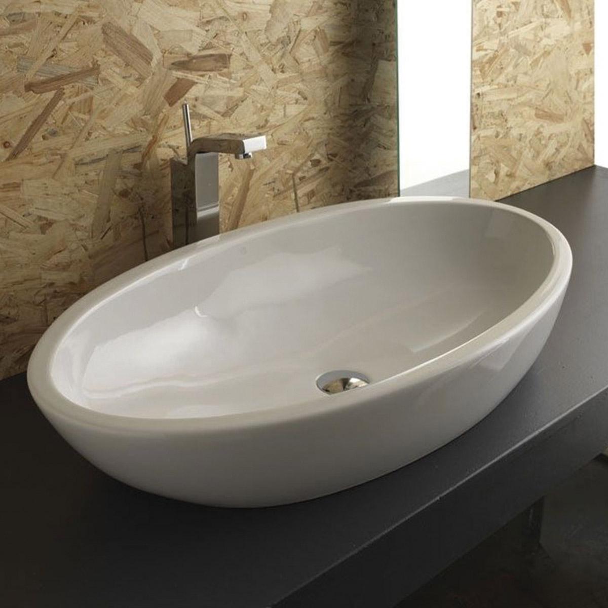lavabo appoggio 80 cm sfera