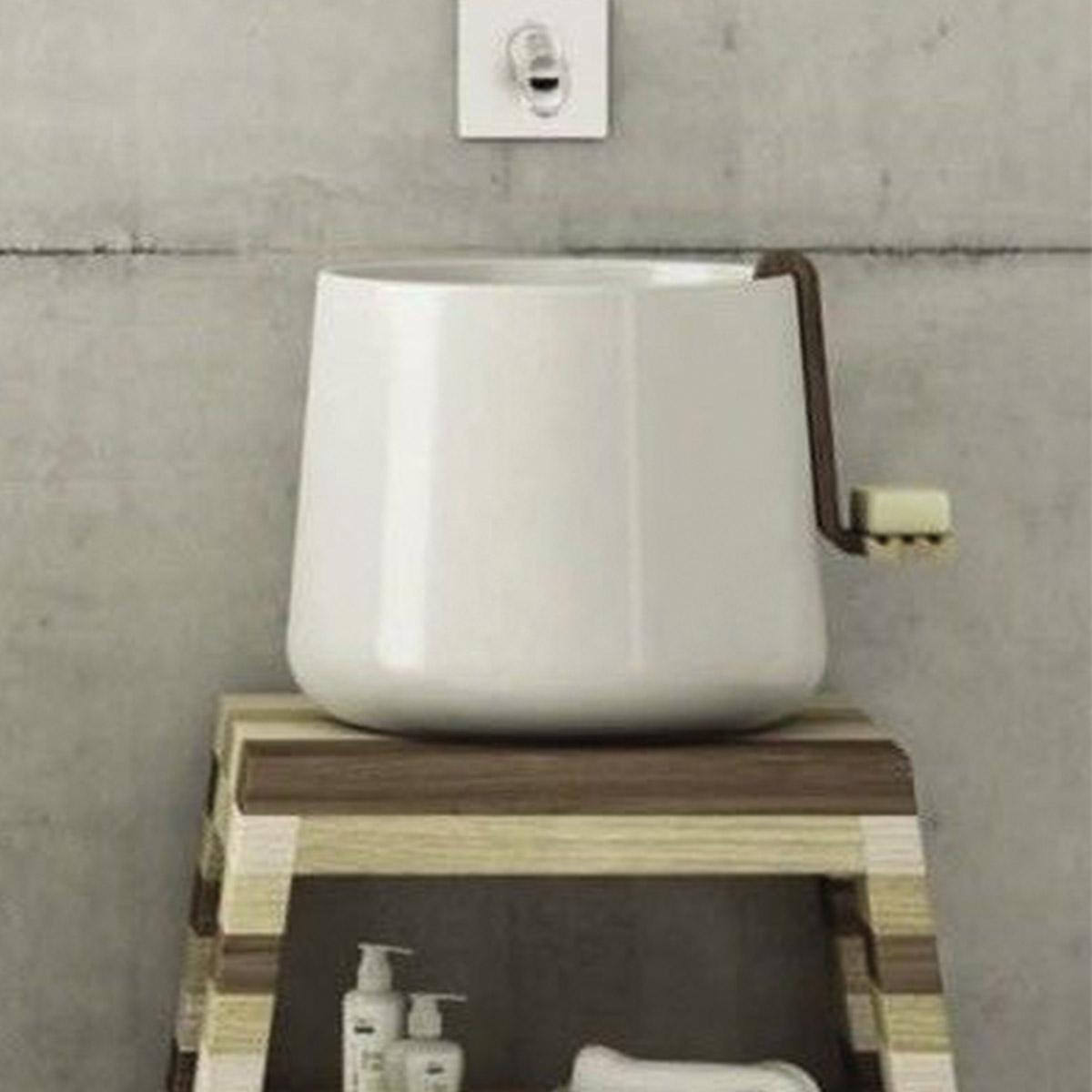Lavabo appoggio 42x35 cm catino - Prezzo lavandino bagno ...