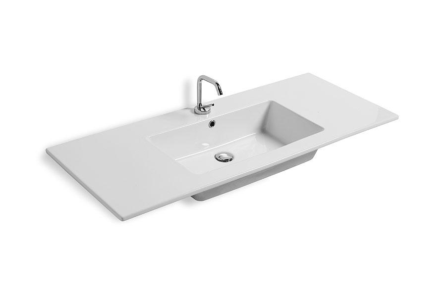 Lavabo incasso sleek 106x51 5 cm - Lavabo bagno da incasso ...