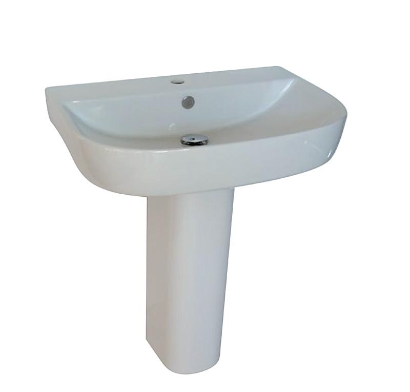 lavabo su colonna 70x48 cm m2