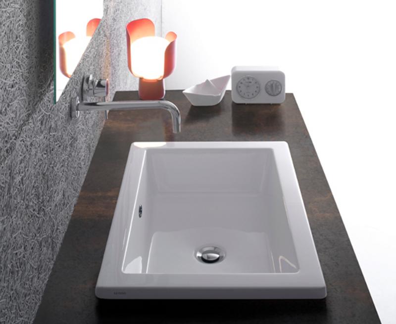 Lavabo da incasso 58x42 cm forty3 - Lavabi bagno da incasso ...