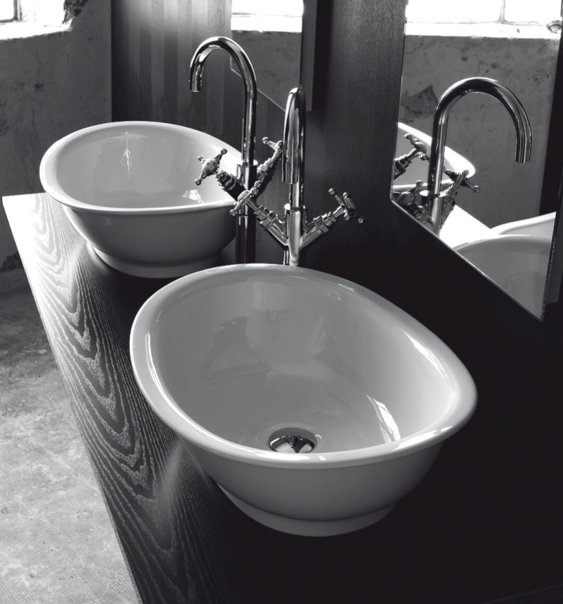 Lavandino bagno da appoggio regent for Mensola lavabo