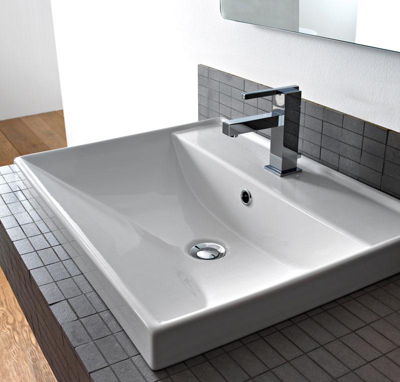 Lavabo incasso 40x60 ml - Lavandino bagno da incasso ...