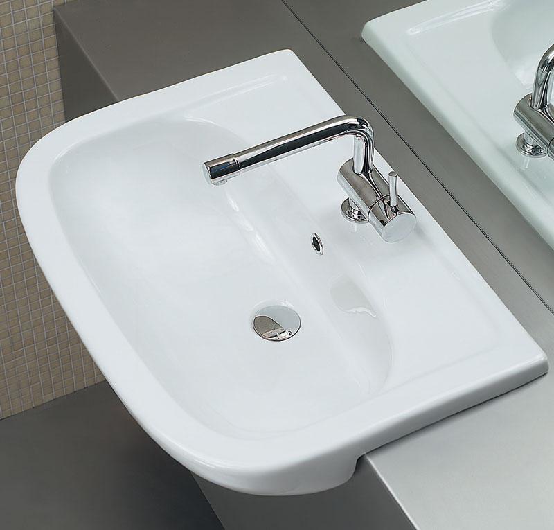 Lavabo semincasso 66 x 48 cm nemi for Mobile lavello bagno