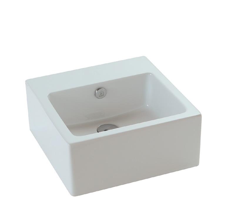 lavabo senza foro 40x40 cm plus - Mobile Bagno Senza Lavandino