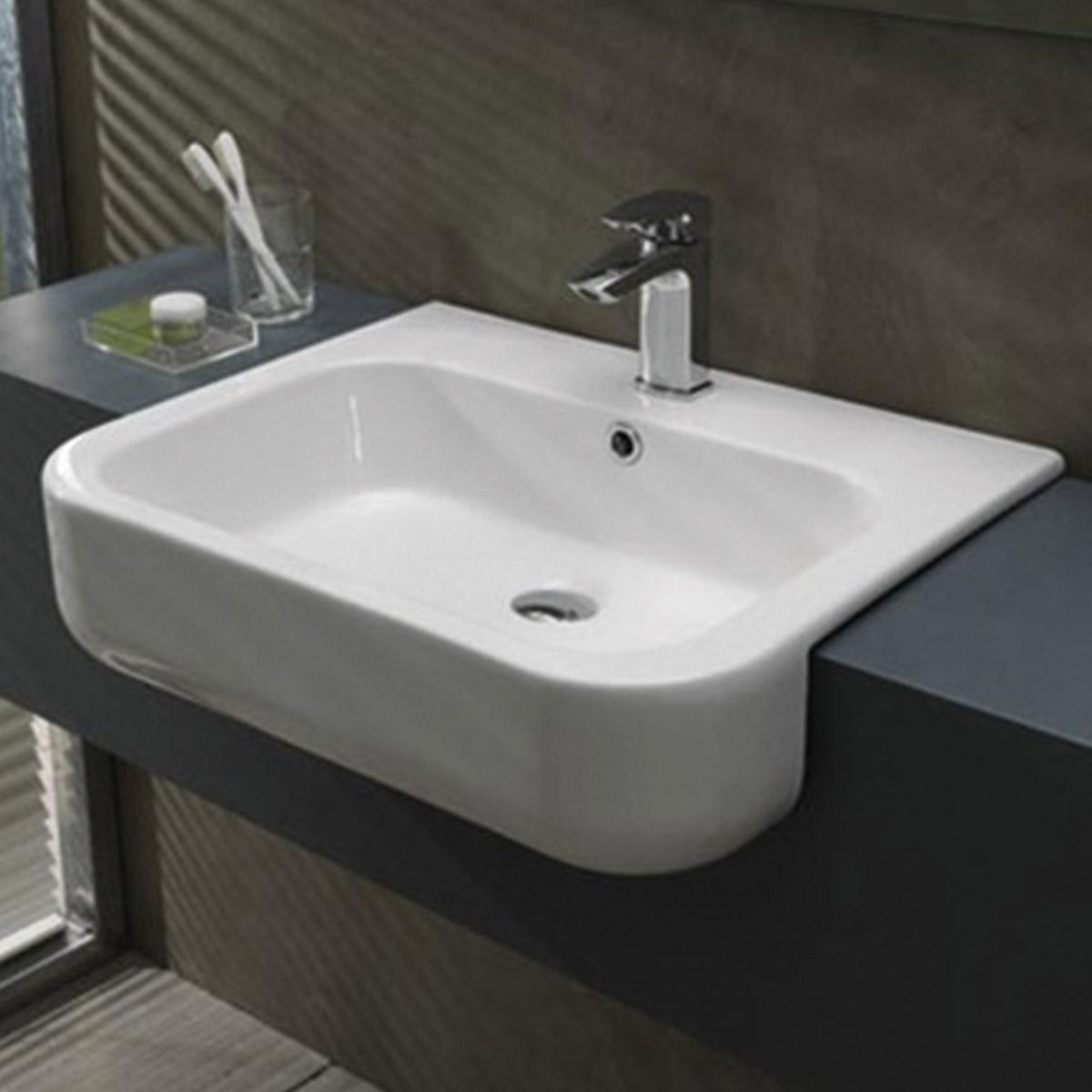 Consolle semincasso 60 cm qubo - Lavabo bagno semincasso ...