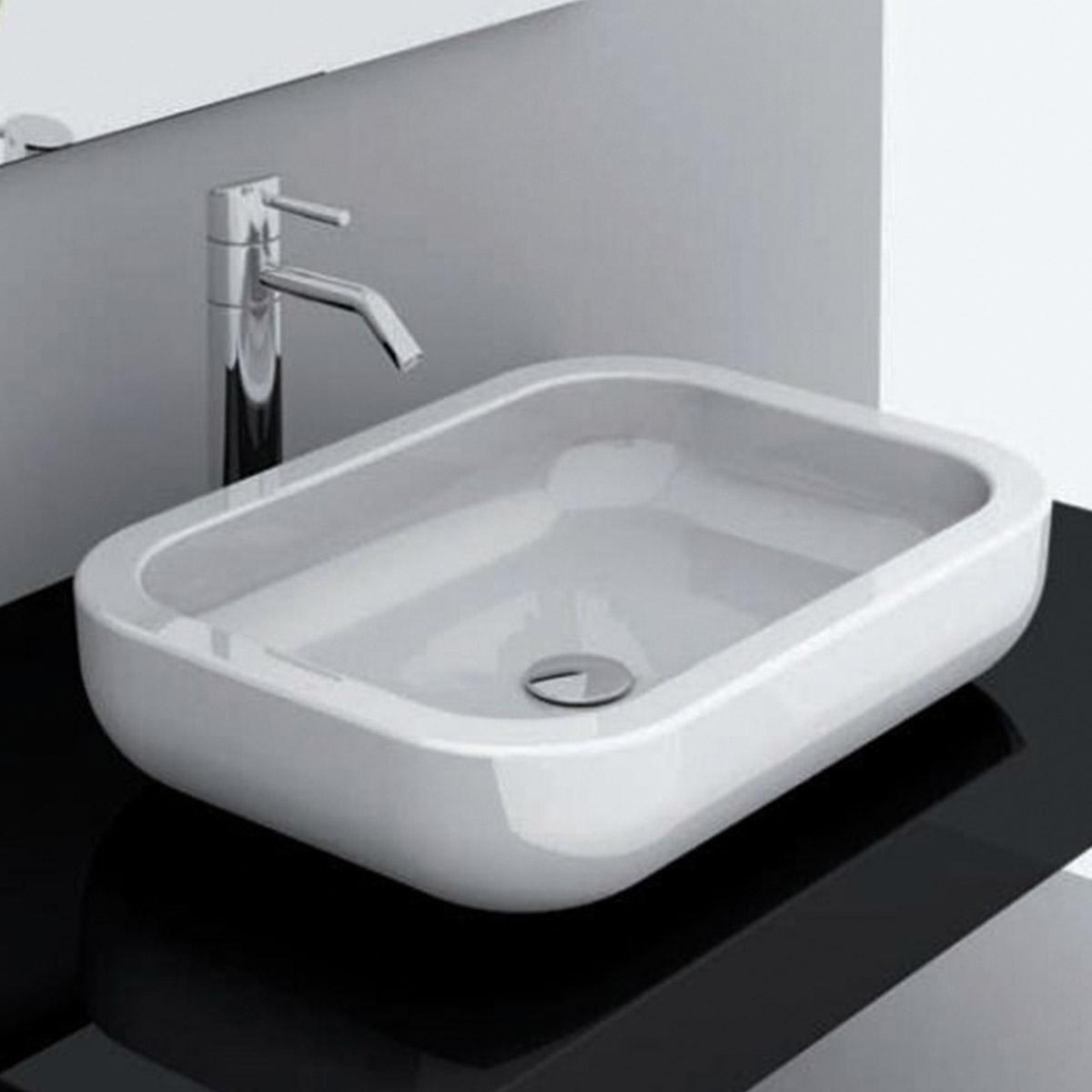 Consolle da appoggio 60 cm qubo for Consolle per lavabo da appoggio