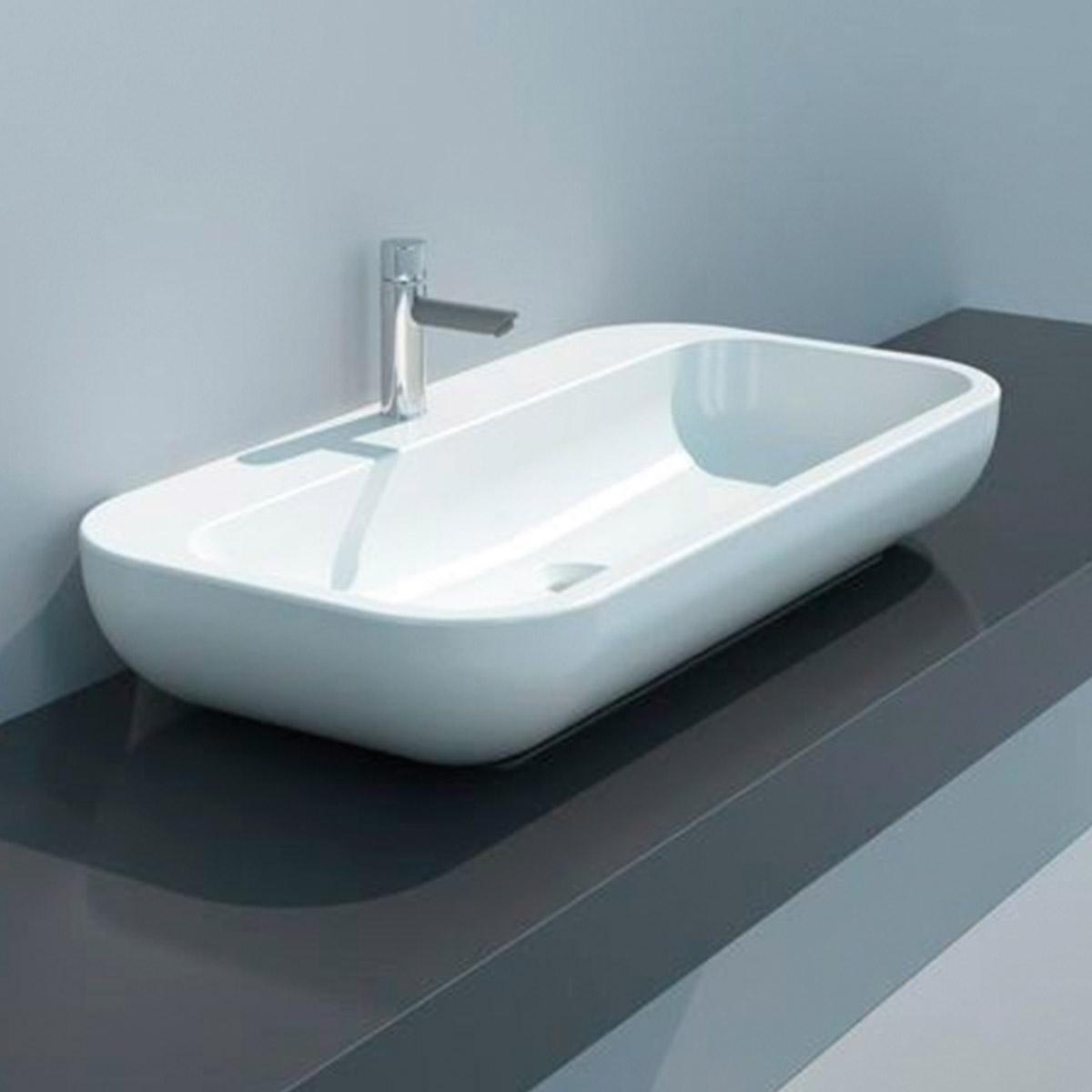 Lavabo qubo da appoggio 70x40x15 cm - Lavabo bagno 50 cm ...