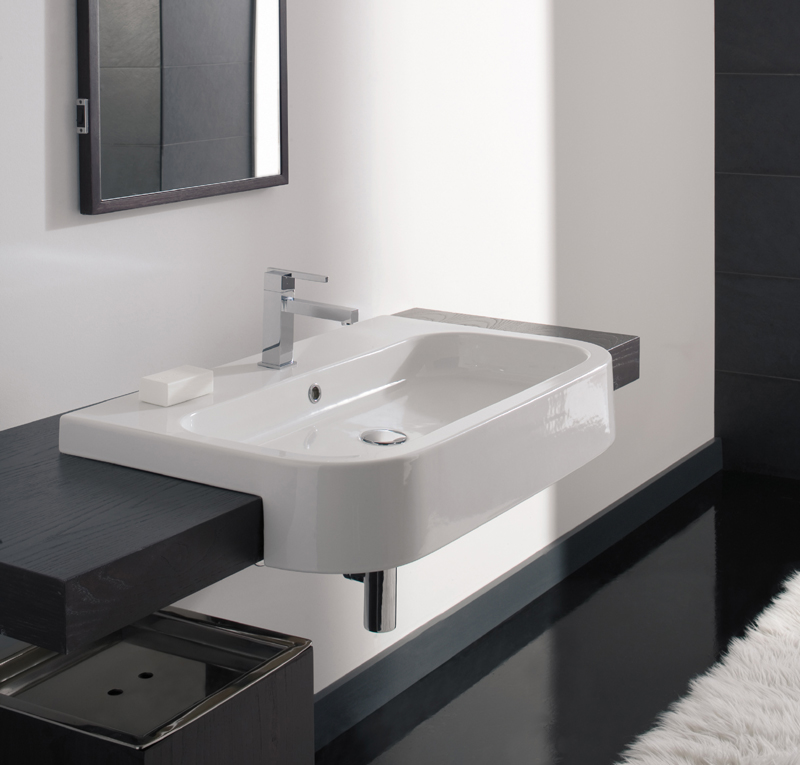 Lavabo next 80 d - Lavabo bagno semincasso ...