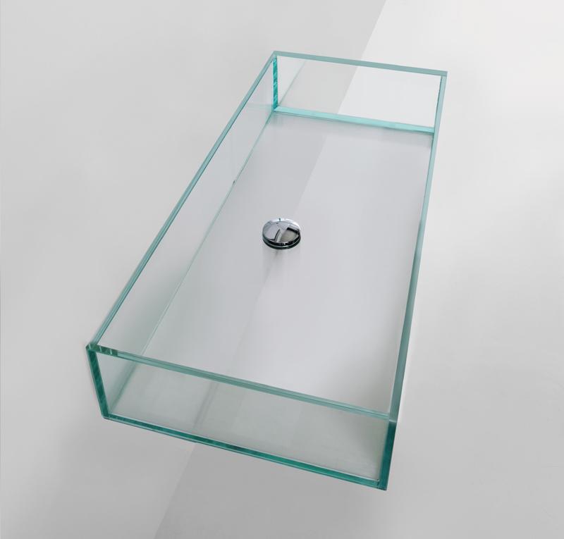Lavabo vetro 120x35 5 cm glass - Lavandini in vetro per bagno ...