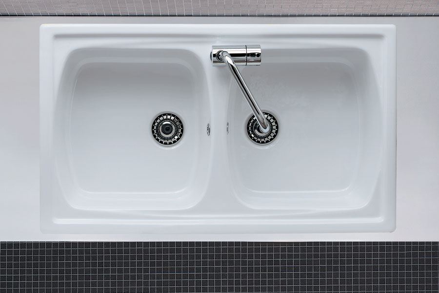 Lavello da incasso due vasche genius 2v - Lavandini da cucina in ceramica ...
