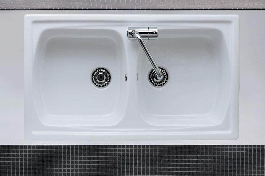 Lavello da incasso due vasche genius 2v - Accessori bagno in ceramica da incasso ...