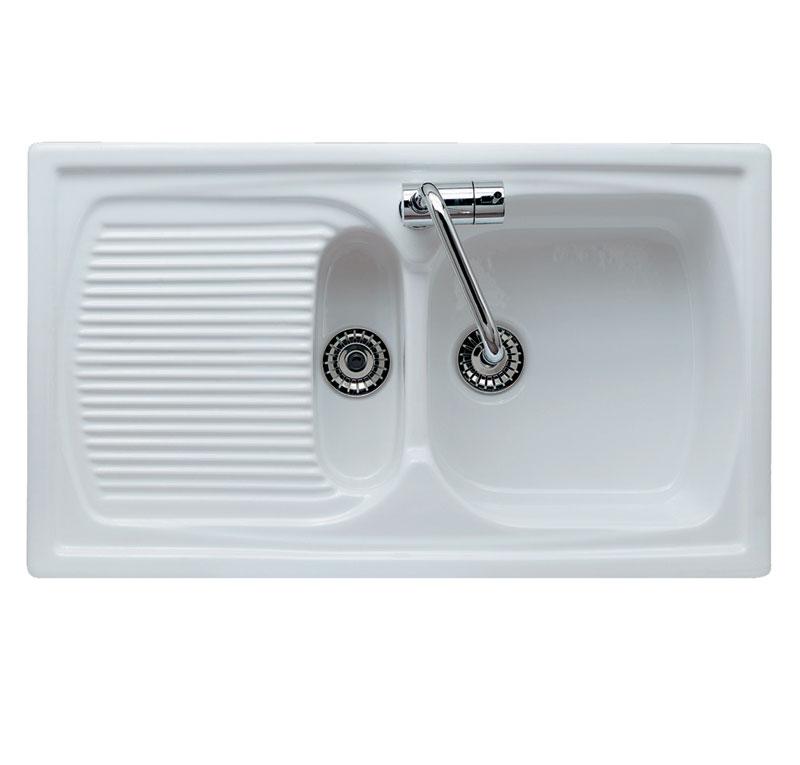 Lavello da incasso in ceramica genius 1v 1 2 - Lavelli bagno da incasso ...