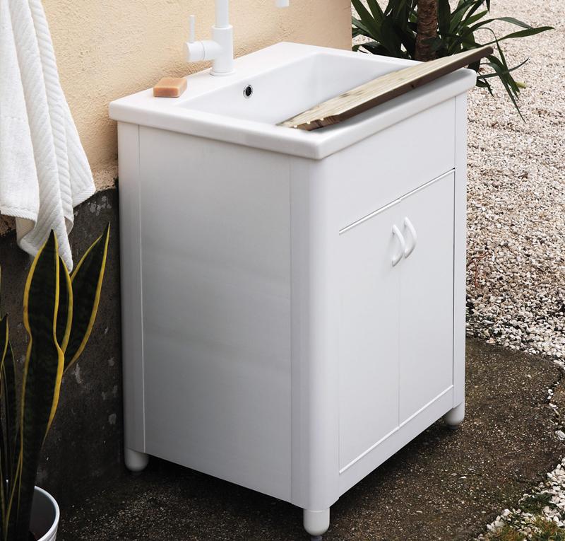 Lavatoio per esterno sabbia 60x48 5 - Box bagno esterno ...