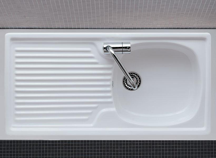 lavello per mobile con scolapiatti Eliseo 90