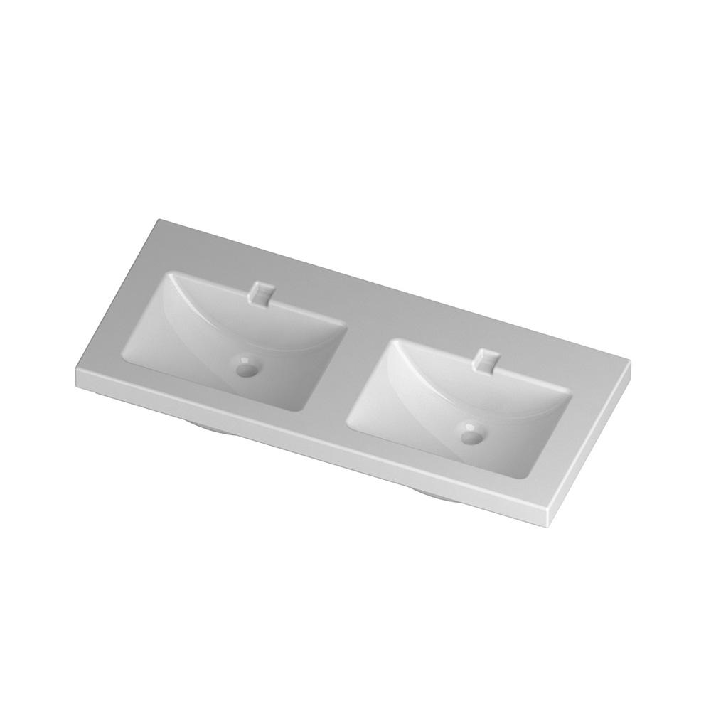 lavabo doppia vasca a incasso 120 cm light. Black Bedroom Furniture Sets. Home Design Ideas