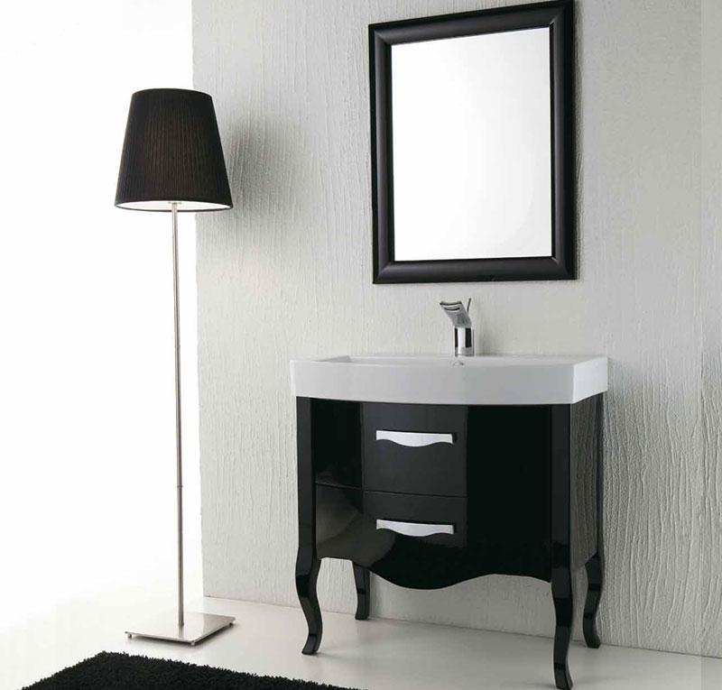 Arredo bagno nero lucido zeus for Accessori bagno vintage