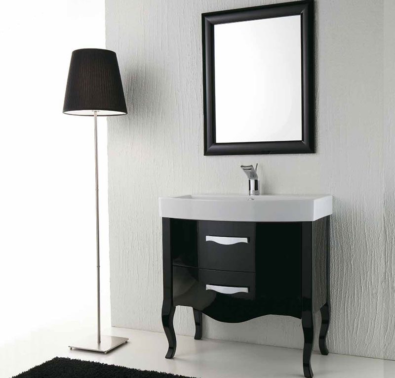 arredo bagno nero lucido zeus
