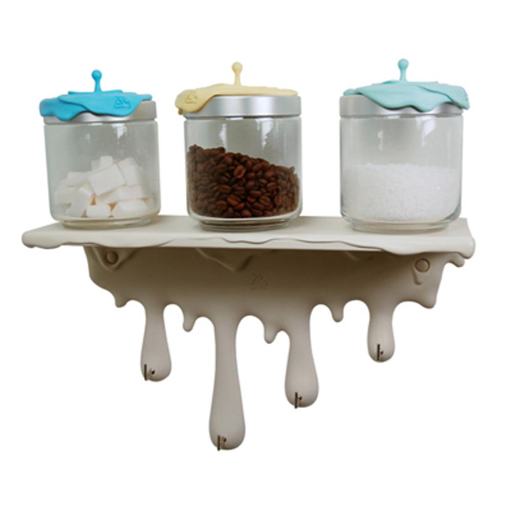 Mensola colata in resina bianco - Mensola porta piatti ...