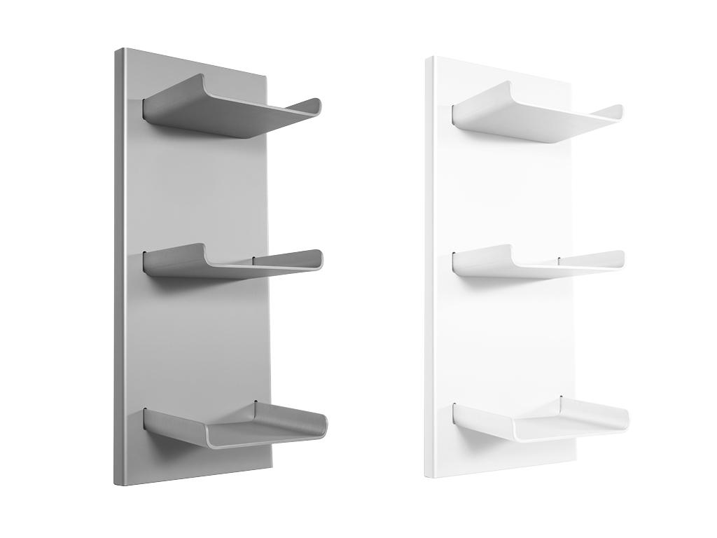Mensola bagno in alluminio trio 33x23x77h cm - Mensola vetro bagno ...