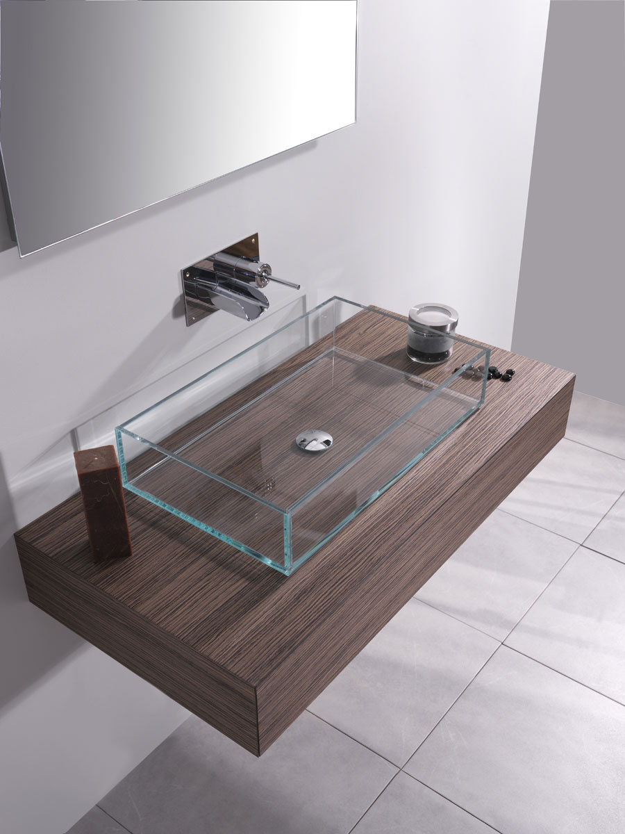 Lavabo bagno in vetro 60 cm for Prezzi lavabo bagno